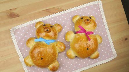 Orsacchiotti di pan brioche soffice: i bambini ne andranno matti!