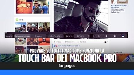 Provare Touch Bar dei nuovi MacBook Pro su tutti i Mac con un app gratis