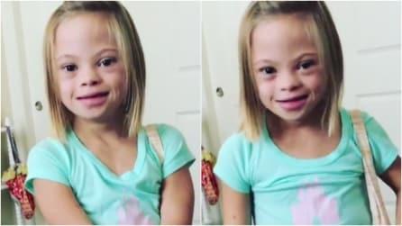 """La bimba con la Sindrome di Down che commuove il mondo: """"Non è spaventosa. È eccitante"""""""