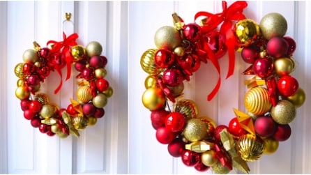 Come realizzare una ghirlanda di Natale con una gruccia