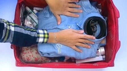 Trucchi salva-spazio: ecco come preparare la valigia