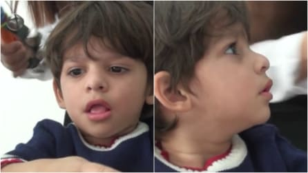 A 2 anni il piccolo Ibrahim sente per la prima volta: una scena che vi scalderà il cuore