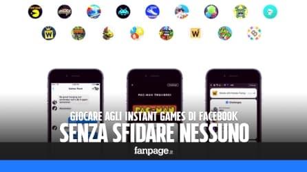 Giocare agli Instant Games, i giochi di Facebook, senza sfidare nessuno
