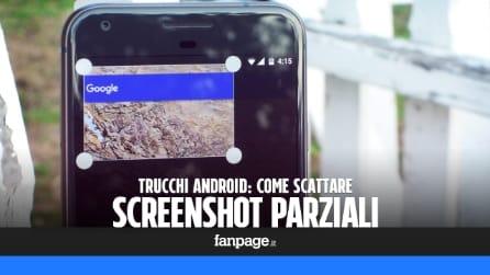 Scattare screenshot parziali con Android