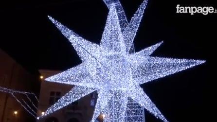 San Marino si illumina per il Natale: la stella a LED più grande d'Europa incanta tutti