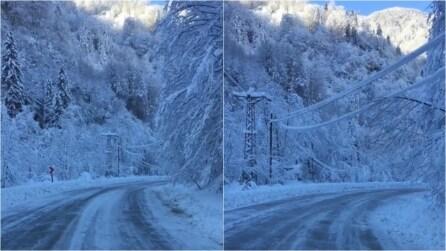 Turchia, il paesaggio incantevole dopo la nevicata sui Monti del Ponto