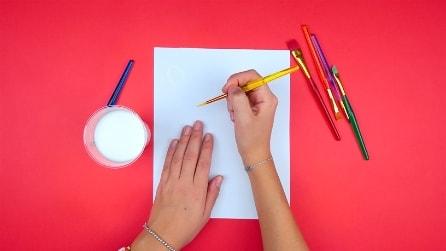 Pittura magica: ecco come disegnare con il latte