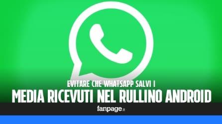 Evitare che WhatsApp salvi foto e video nel rullino fotografico Android