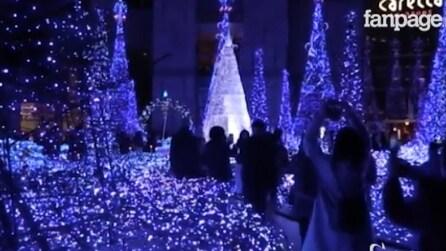 Natale a Tokyo, spettacoli di luce nel cuore della città