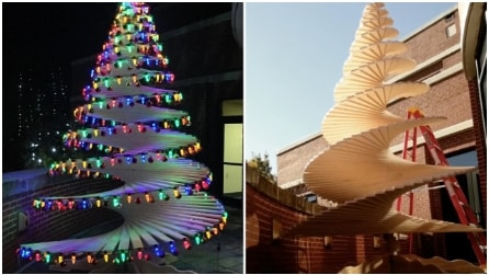 Come fare un incredibile albero di Natale a spirale