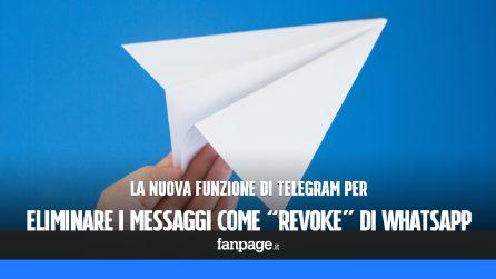 """La nuova funzione di Telegram per eliminare i messaggi che anticipa """"Revoke"""" di WhatsApp"""