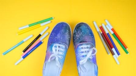 Scarpe galaxy: un modo originale per decorare le tue scarpe