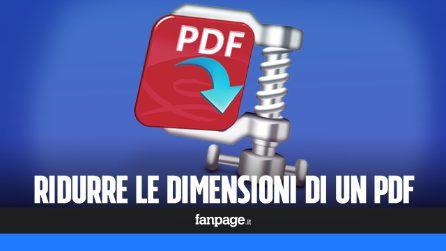 Come rimpicciolire le dimensioni di un file PDF