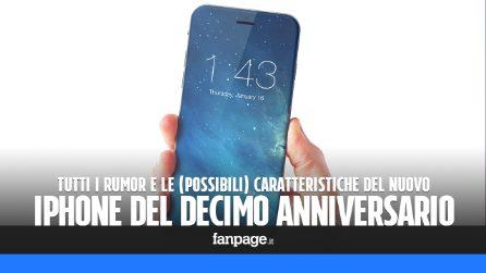 Rumor iPhone 8 (2017): le possibili caratteristiche tecniche dell'iPhone del decimo anniversario