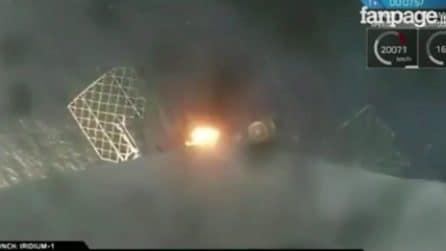 A bordo del razzo Space X: l'emozionante atterraggio su una piattaforma nell'Oceano Pacifico
