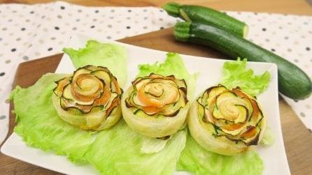 Rose di zucchine e salmone: l'idea saporita e sfiziosa!