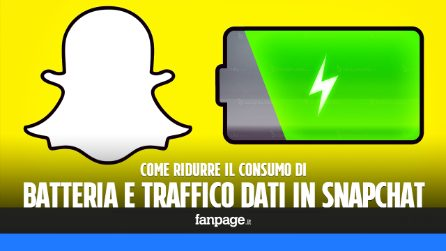 Risparmiare traffico dati e batteria in Snapchat per iPhone e Android