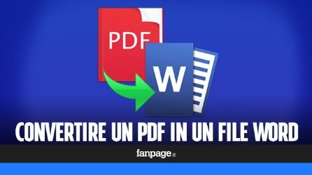Trasformare un PDF in Word per poterlo modificare
