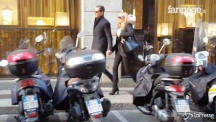 Shopping mano nella mano: Federica Panicucci e Marco Bacini innamorati a Milano