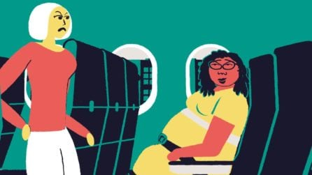 I disagi provati dalle persone obese in aereo