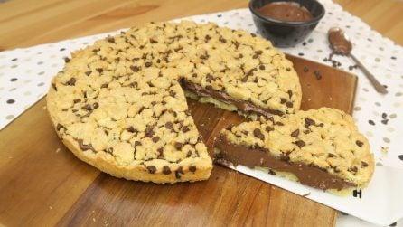 Torta cookie: il dolce goloso con gocce di cioccolato!