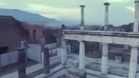 In volo sugli scavi di Pompei: le spettacolari immagini del drone