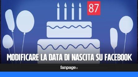 Cambiare data di nascita su Facebook