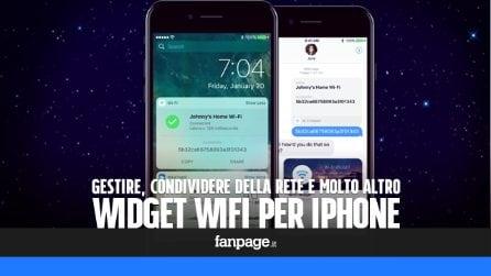 Gestire il WiFi, condividere la password della rete e molto altro con un widget per iPhone