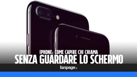 Conoscere chi chiama senza guardare lo schermo di iPhone