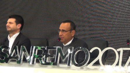 """Carlo Conti in conferenza Sanremo 2016: """"Ospitare Ezio Bosso e quello che dice è politica"""""""