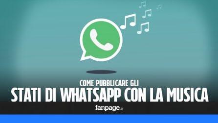 Pubblicare gli stati di WhatsApp con la musica
