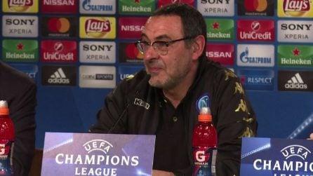 """Real-Napoli, Sarri: """"L'unico dubbio è se usare tre o quattro punte"""""""