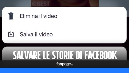 Come salvare le storie di Facebook
