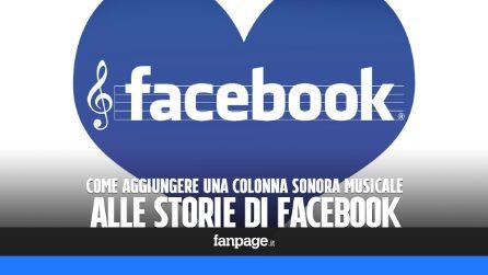 Pubblicare le storie di Facebook con la musica