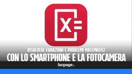 Risolvere le equazioni matematiche con smartphone e fotocamera