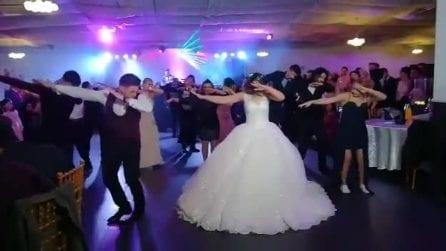 Flash mob con gli sposi: la coreografia è davvero divertente