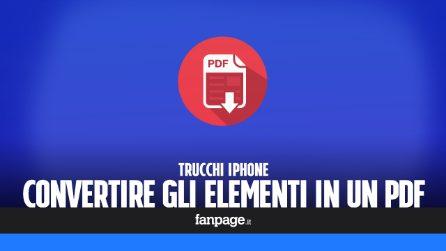 Trucchi iPhone: convertire in PDF foto, note, email e qualsiasi altro elemento