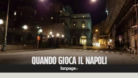 Durante Napoli-Real la città è deserta: tutti incollati alla tv