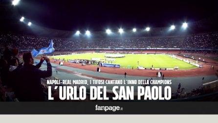 Napoli-Real Madrid, l'urlo della Champions è da brividi