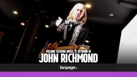 """Milano Fashion Week, il ritorno di John Richmond: """"Sono uno stilista rock"""""""