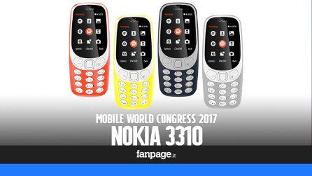 Nokia 3310 (e Snake): prova e anteprima dal Mobile World Congress 2017