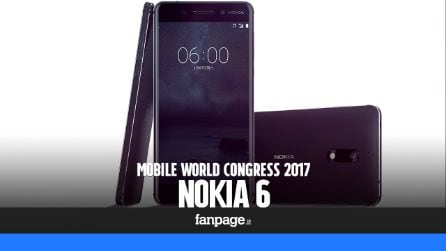 Nokia 6 Android: prova e anteprima dal Mobile World Congress 2017