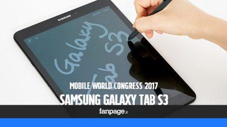 Samsung Galaxy Tab S3: prova e anteprima dal Mobile World Congress 2017