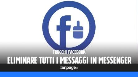 Come eliminare tutti i messaggi di Facebook Messenger contemporaneamente
