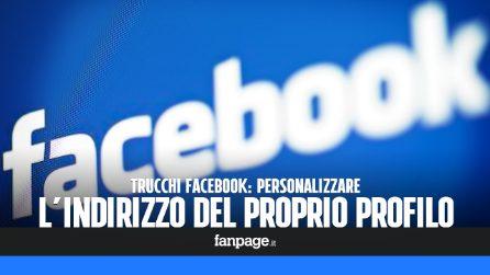 Personalizzare l'indirizzo URL del profilo Facebook