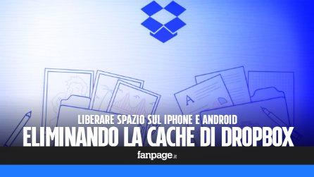 Eliminare la cache di Dropbox per liberare spazio su iPhone e Android