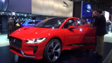Al salone dell'auto di Ginevra Jaguar stupisce con l'elettrica I-Pace, debutta Range Rover Velar
