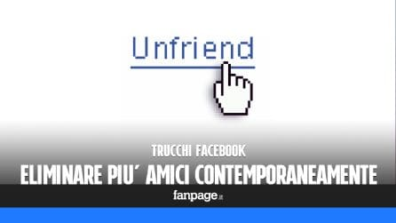 Trucchi Facebook: eliminare più amici Facebook contemporaneamente