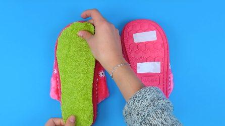Pantofole contro la polvere: ecco come realizzarle