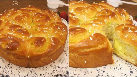 Torta di rose: il pan brioche soffice e profumato perfetto per la colazione!